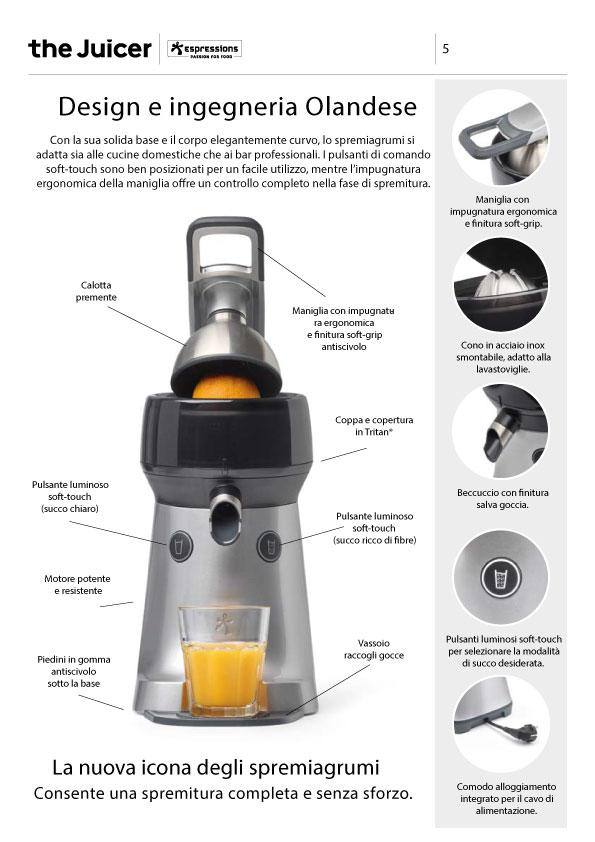Spremiagrumi elettrico The Juicer Espressions Dutch_0